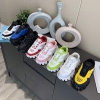남성 여성 캐주얼 신발 Cloudbust 천둥 스 니 커 즈 19FW P 위장 캡슐 시리즈 신발 색상 일치 플랫폼 고무 운동화