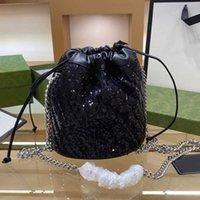 2021 ombro balde sacos de alta qualidade moda vendendo carteira mulheres cadeia bolsa várias cores tamanho 18 * 19cm