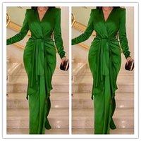 녹색 인어 댄스 파티 드레스 긴 Sheeve 플러스 사이즈 공식 이브닝 가운 레이스 Appiqued 우아한 저녁 공식 드레스 2020 Robes De Soirée