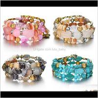 Bracelets Jewelry Boho Colorful Turquoises Beads Bracelet For Women Men Metal Copper Resin Natural Stone Bead Charm Ethnic Adjustable Bracel