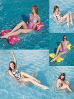 Piscina flotante Piscina Hamg Mock Lounge Sillizo Inflable Inflable Folleto Dual Propósito Fila Diversión Reclinador Sofá Sofá Venta al Por Mayor