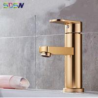 Bathroom Sink Faucets Space Aluminum SDSN Cold Basin Mixer Tap Deck Mounted Single Handle Faucet