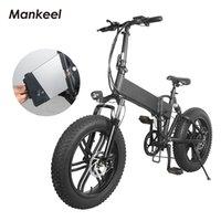 Manchelo MK011 Bicicleta Elétrica Dobrável Smart Scooter 20inch 500W Poderes LED Luz Luz E-Bicicleta 10.4ah Bateria 40km Quiltoamento Esporte Mountain Bikes Poland Warehouse