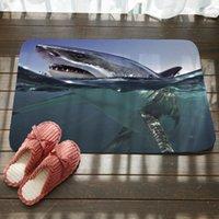 Ocean Shark Bath Mats Home Indoor Outdoor Non-slip Corridor Floor Mat Porch Entrance Front Doormat Bedroom Decor Rug Carpet