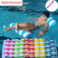Inflatable Floating Water Hammock Water Fun Lounge Bed Chair Swimming Pool Inflatables Air Mattress Summer Floating Sleeping Beds for Beach Easy to Carry