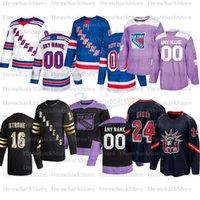 Benutzerdefinierte Newyork Rangers Hockey-Trikots 93 Mika Zibanejad 36 Matten Zuccarello 30 Henrik Lundqvist 20 Chris Kreider 11 Mark Morgeiser