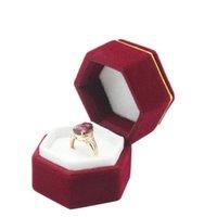 Boîte à doigts Boîte Hexagonal Organisateur Etui d'emballage Étui Ear goujons Boîtes de rangement Boîtes d'affichage de bijoux Porte-vitreFree Fast Sea Shipping HHC4680