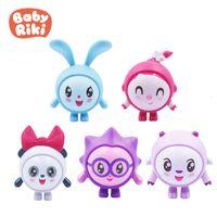 5 Stili / Set Russian Baby Riki Figura Toy Toy Babyriki Coniglio Panda Doll Numeri Bambini Poison