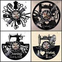 Costura salão relógio de parede alfaiataria pulso de disparo 12inch 30 cm personalizado presente preto clockface 692 k2