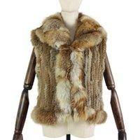 Harppihop * зимняя осень осень хорошего качества воротник меха вязаный жилет 30% скидка на женщин