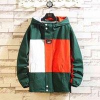 Vestes NOUVEAU Sweatshirt Noir Patchwork Hommes Automne Hip Hop Hop Sweat Japonais Sweat Street Vêtements Lâche Casual Capuche Jacket