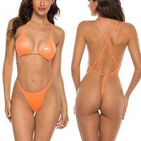Women's Swimwear Extreme Bodysuits Swimsuit Female String Bikinis 2021 Mujer Triangle Women High Cut Bathing Suit Micro Beachwear Bikini