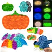 PUSH POP FidGet Toys Sensory Halloween Series Bat Pumpkin Ghost Antistess Antistress Antistress Aprender Regalos y Adultos DiscomPresione Juguete