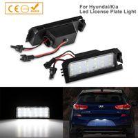 Emergency Lights 2Pcs Canbus LED License Plate Light Number Module Lamp For I30 Elantra GT Sonata LFA Veloster Kia Rio Niro Cadenza
