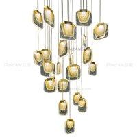 Подвесные светильники постмодерна минималистская вилла лестница большая люстра продаж отдел продаж песчаный стол ресторан бар искусство кристалл стеклянная лампа