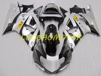 Injecion ABS Motorcycle Free Custom Cowling Fairings kit for SUZUKI GSXR600 Silver Black _+RUTOIYY GSXR 600 750 Bodywork 2001 2002 2003 Fairing kits 01 02 03 Body kits