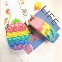 Fidget Toy Push Bubble Coin Purse Chain Shoulder Bagys Pencil Case Phone Wallet Bags Fashion Decompression Storage To