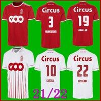 21-22 Estándar Liège Soccer Jerseys Lestienne 2021 2022 R.Standard de Lieja Vanheusden Laifis Cimirot Emond Raskin Carcelá CAMISETAS DE FÚTBOL