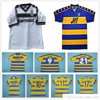 1998 1999 2000 2002 2003 Retro Parma Soccer Jersey Crespo Canavaro Ortega Thuram Fuser Adriano Vintage 98 99 01 02 03 Futebol personalizado Camisetas S-XL