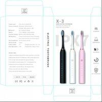 Brosse à dents brosse de la minuterie d'adulte 6 mode chargeur USB pinceaux rechargeables Têtes de remplacement Têtes de remplacement