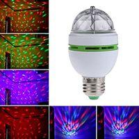 Светодиодные лампы вращающиеся сценические светильники RGB кристалл E27 лампы базовый держатель стробосков DJ ночные огни для праздника бар домашнего декора