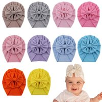 Caps & Hats Baby Cotton Hair Bow Knot Kids Infant Turban Hat Big Ear Toddler Beanie Headwraps Birthday Gift Po Props