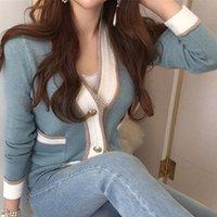 Maglioni da donna Zawfl Autunno Autunno Camicee femminili con cardigan a Voto-down-down a basso taglio VG8Y Cardigan coreano VG8Y