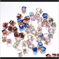 50 шт.лот красочный 3D Cube Chaild Candend подходит для ожерелья DIY, делающие поделки выводы ремесел оптовые продажи R4JGL LSGIO