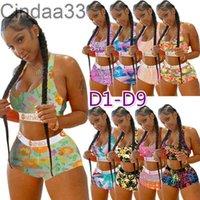 Donne 2 pezzi Set Etika Designer Designer Tracksuits Stampato Costume da bagno Bikini Gilet Bra e Pantaloncini Vestita Costume da bagno Costumi da bagno di lusso Brand Beachwear