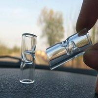 12 mm altura 3 mm Mini filtro de cristal puntas de la boca redonda para las narizudes Hierbas secas Tabaco Rolling Rolling Papeles gruesos Pyrex Fumar tubos