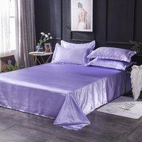 Wholesale luxo 100% cetim seda branca 1 pcs folha de seda de seda rainha de cama king king king para mulheres homens y200417 1317 t2