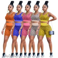 women tracksuit Leopard Outfit print yoga sports suit female summer style bra high waist boxer casual two-piece set lulu365