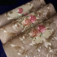 Wallpapers High Grade Luxury Embossed Texture Wall Paper 3D Damask Wallpaper Roll For Washable PVC Modern Flower Brown