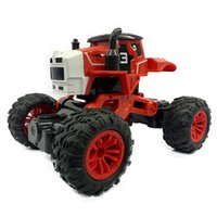 USB charging remote control car 2.4G four-way farmer off-road vehicle induction transformation children's electric remotes controls cars toy