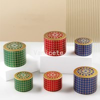 Tinplate box aroma empty candy jar flower wedding candy jewelry sealed tea canister packing T2I52902