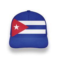 Kuba männliche Jugendstudent-Hut Kostenloser benutzerdefinierter Name Namensnummer Drucken Foto Nationalflagge Unisex 3D Baseballmütze
