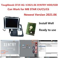 Diagnostic Tools 2021 Toughbook CF19 Laptop 4g PC With Est 2021.06 Xentry Software For Cars Diagnosis Work MB STAR C4 C5 C6