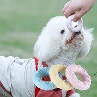الحيوانات الأليفة الترفيه التفاعلية باو طباعة دونات لعبة الأضراس الأسنان تنظيف الكلب التدريب لوازم TPR المواد DWA5686