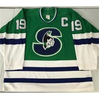 668668Rare Hóquei Jersey Homens Juvenil Mulheres Vintage Personalizar AHL Springfield 1990-93 Picard Tamanho S-5XL Personalizado Qualquer nome ou número
