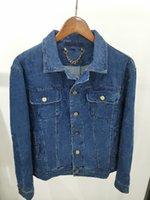 디자이너 Mens Womens 데님 재킷 옷 코트 겉옷 후드 남자 21SS 의류 재킷 면화 오래 된 꽃 인쇄 파란색 품질 코트