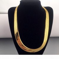 High quality 70CM*1MM Hip Hop Mens Herringbone Chain Golden Necklace Rapper Chunky Chain Boys Rapper NightClub DJ Jewelry