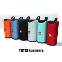 TG113 Bluetooth Kablosuz Hoparlörler Subwoofers Handsfree Çağrı Profil Stereo Bas Desteği Hi-Fi Yüksek Loud DHL'de TF USB Kart AUX hattı