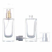 50ML rectangular glass spray empty perfume bottle, cosmetic container