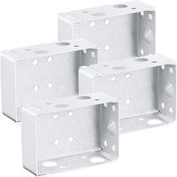 Pezzi Staffe cieche 2 pollici Box a basso profilo Staffa di montaggio per l'headrail (Bianco) Altro decorazioni per la casa