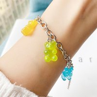 Link, Chain Cute Gummy Bears Bracelet For Women Sliver Charm Baby Bohemia Boho Jewelry Accesorios Gifts
