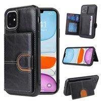 Per iPhone 13 12 Pro MAX 11 XS XR x 7 8 PLUS cuoio custodia per portafoglio custodia con portafoglio con slot per schede
