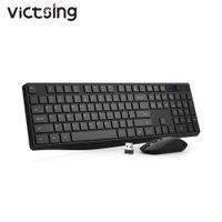 WIKSING PC230 Wireless-Tastatur und Maus-Set 2 in 1 USB-Empfänger 104 Keycaps Tastatur 1600 dpi Maus Silent Klicken Sie für Mac-Sieg