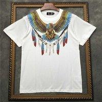 Marcelo Barrett Erkekler Tee 100% Pamuk Kartal Baskı Düz Fit Kısa Kollu T-Shirt Kıyafet Temel Giymek | 2191001519