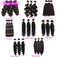 Malaisien 100% Human Coiffures Produits 3pcs Bundles Silky Droits Silky 8-30inch Profond Curly Wadue du corps pas cher Remy Cheveux Tree Three Bundles