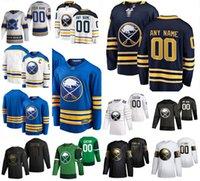 Buffalo Sabres 9 Jack Eichel Hockey Jerseys 53 Jeff Skinner 21 Kyle Okposo 26 Rasmus Dahlin 32 Michael Houser 47 Aaron Dell Custom Cuted Hommes Jersey Jersey